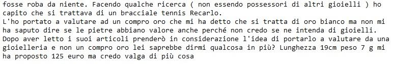 email lettrice su valutazione tennis recarlo