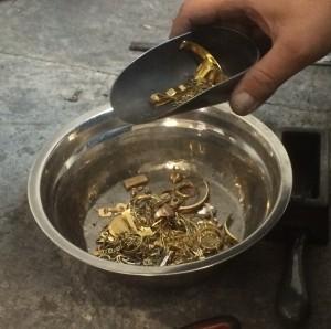 L'oro prima della fusione